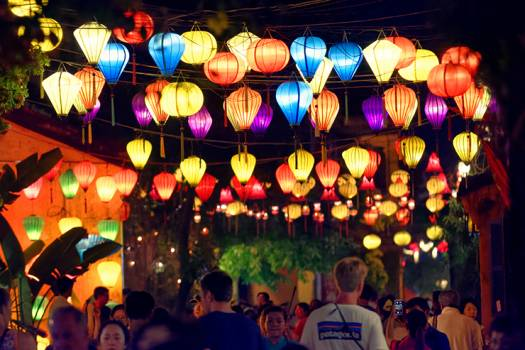 Laterns in Hoi An in Vietnam