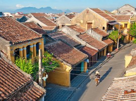 Hoi An Ancient Town Vietnam - view from flycam